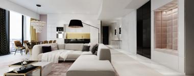apartament modern- glam